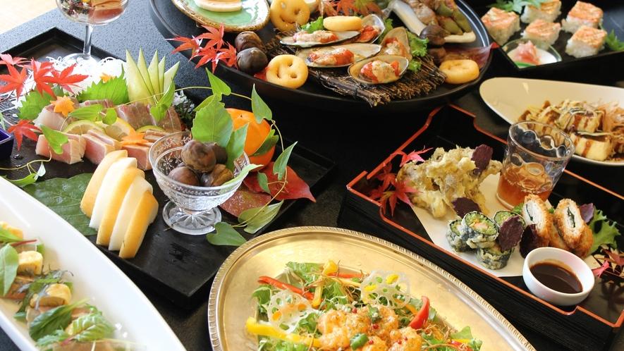 *【夕食一例】自然の恵み豊富な「湯前」の味をご堪能♪