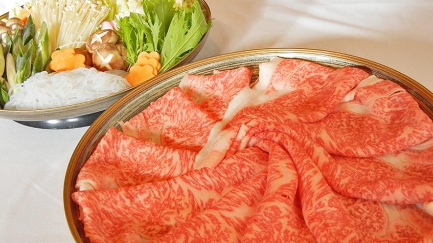 *【飛騨牛しゃぶしゃぶorすき焼き】自慢のご当地ブランド牛をお好みの鍋料理で