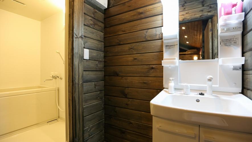 *【コテージ:館内】お風呂、トイレ、洗面所あり