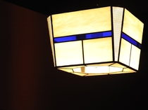 ステンドグラスベースランプ