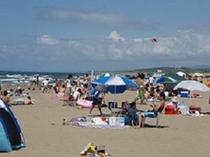 内灘海水浴場☆内灘砂丘とも呼ばれる広い砂浜海岸☆