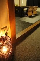 和室☆最大3名様までご宿泊が可能です。シックな色調の畳に新調!