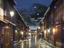 金沢市内 ひがし茶屋街の夜景