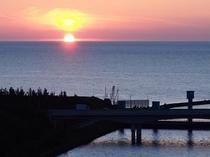 道の駅サンセットパーク内灘からの夕日