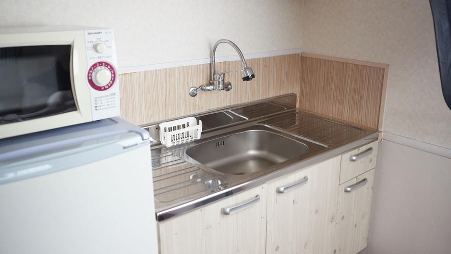 【ファミリールーム】キッチンがついているのでとても便利!