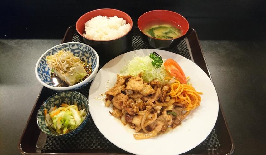 魚河岸食堂の朝食 生姜焼き定食(東都グリル)