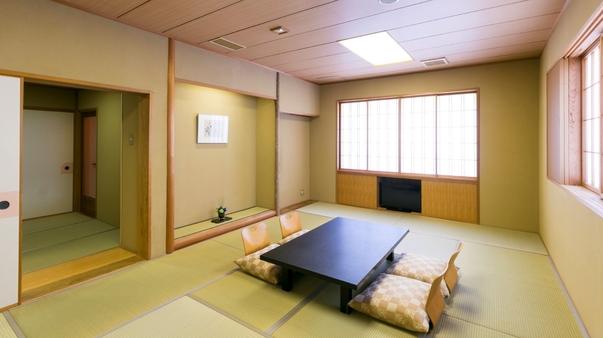 【夕食半個室】 特別室(禁煙)檜風呂・ベッド2台〜WiFi
