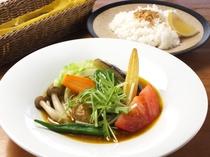 ランチの野菜カレー