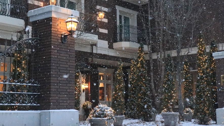 雪の日のルグラン旧軽井沢