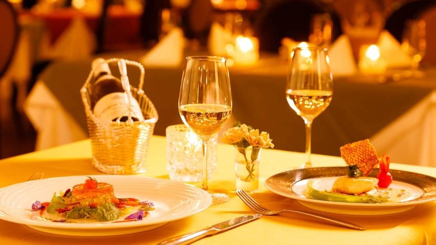 レストラン「アルペジオ」/地元信州の新鮮食材を使用し、四季折々の旬の味わいでゲストをお迎えいたします