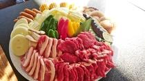 *お肉と海鮮を一緒に食べられるデラックスBBQ