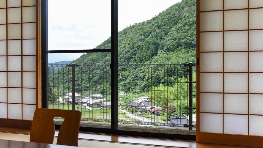 *【おまかせ和室からの風景(一例)】外の風景を眺めてのんびり