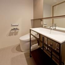 セパレートタイプのバスルームを全室採用