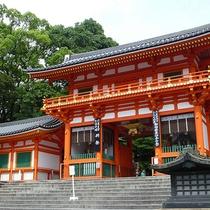 祇園の象徴ともいえる八坂神社