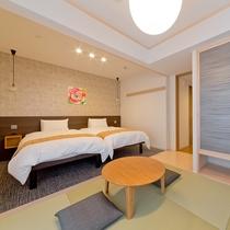 温かみ溢れる空間を演出する客室