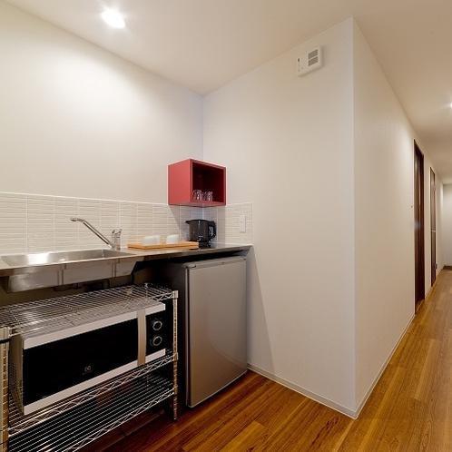 冷蔵庫と電子レンジを全室完備