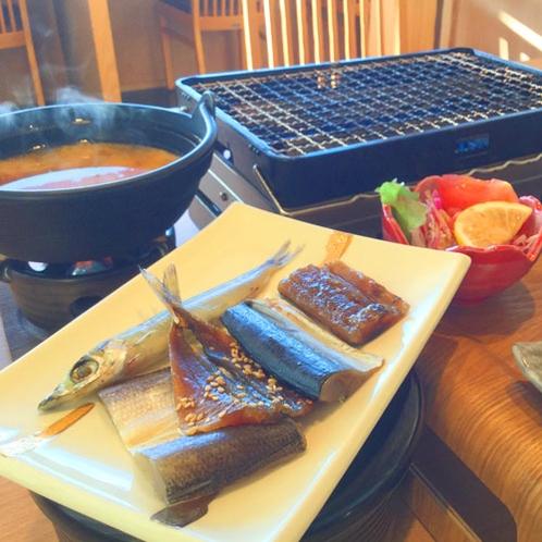 *【朝食】人気の干物とおかずは好評です