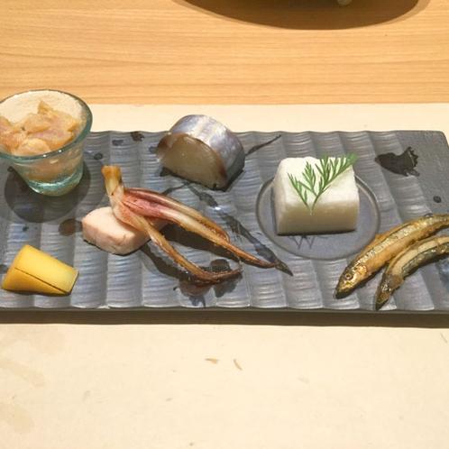 *【夕食】季節の前菜は、熊野ならではの素材を使用