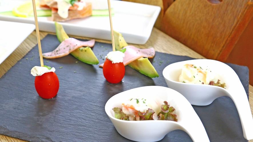 ◆旬の前菜3種~盛り付けにもこだわっております!