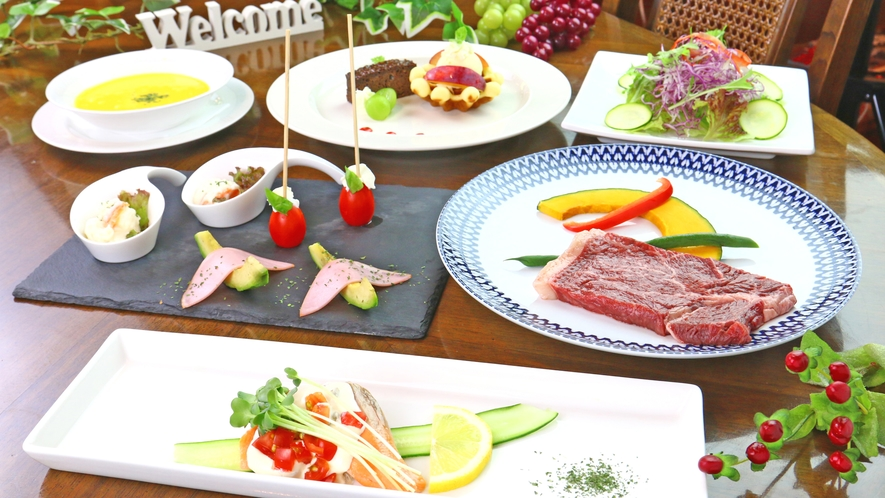 ◆グレードアップディナー◆お肉とデザートのグレードがアップ♪