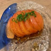 夕食:冷やしトマト
