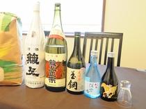 【地酒】美味しい食事に合う奥出雲の地酒も取り揃えています。