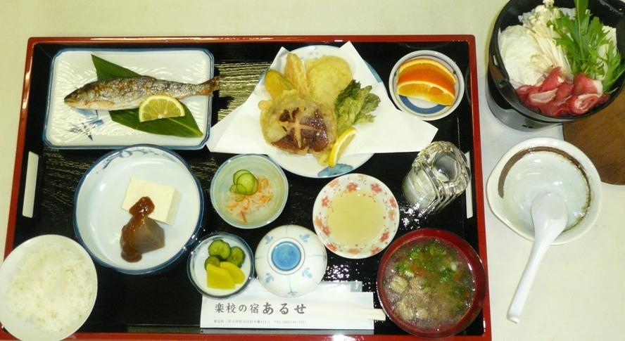夕食 Aプラン(地域の食材を使った料理)