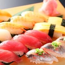 夕食握り寿司