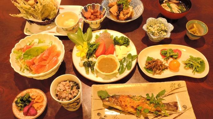 【暖心の2食付プラン】女将手製☆地元食材100%使用というこだわりの夕食をどうぞ♪