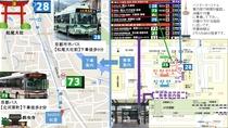 京都駅からバスで来られる場合