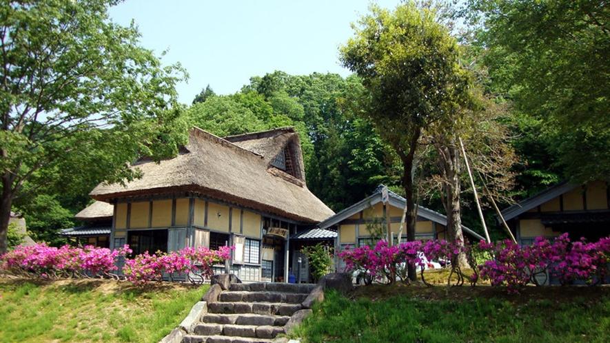 *【かやぶきの宿】草木の囲まれた茅葺の宿
