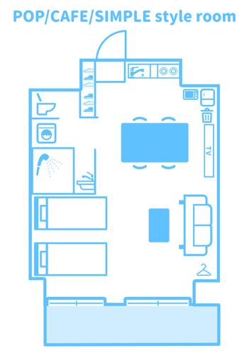 洋室平面図