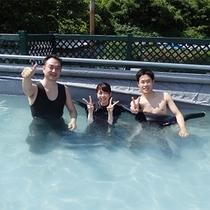 *体験ダイビング/ダイビングを終えて記念撮影。楽しい思い出になりました!