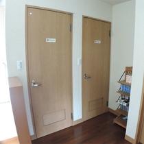 *施設一例/本館ご宿泊の際はこちらの共用トイレをご利用下さい。