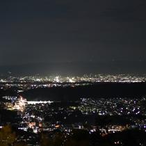 【客室】お部屋からの眺め。奈良大和の夜景を一望!