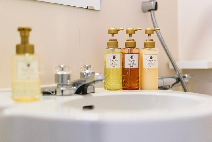 品の良い香りにこだわった浴室アメニティ