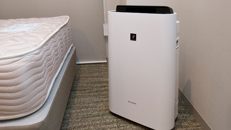 ■加湿空気洗浄機■ 全室に加湿機能付き空気洗浄機を設置しています