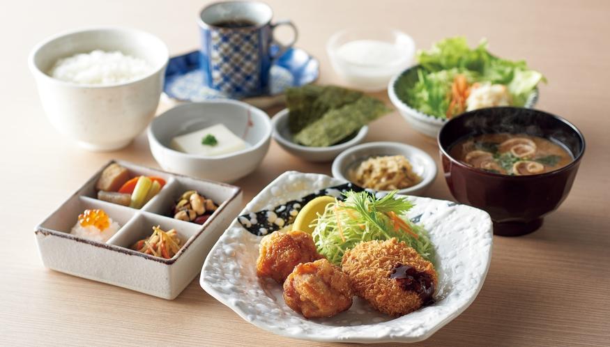 ご朝食 4種類から選べる定食 ■から揚げ定食■ ご飯のおかわり自由です