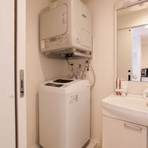 全室に屋内洗濯機・ガス乾燥機を完備