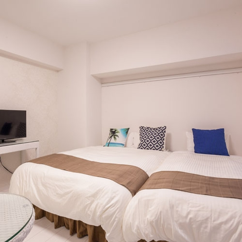 アネックスラージツイン ダブルベッドとシングルベッドのお部屋