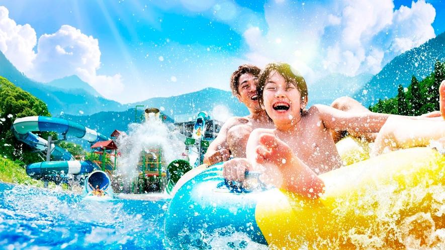 大自然のなかの巨大プールで、ここにしかない夏の大興奮を!