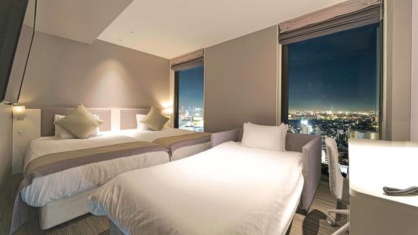 【禁煙】スーペリアツイン+ソファー型ベッド(高層階)