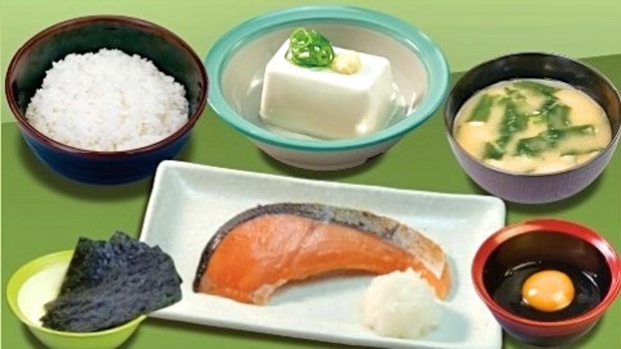 「とんかつ松のや」選べる特製朝定食『焼鮭セット』※ドリンク無し(朝5時~11時)