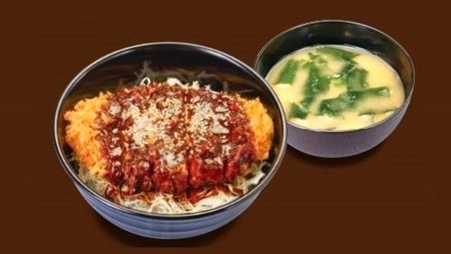 「とんかつ松のや」選べる特製朝定食『味噌ロースかつ丼』(朝5時~11時)