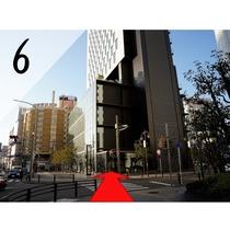 ⑥1つ目の信号交差点を渡りますと名鉄イン名古屋駅新幹線口のエントランスがございます。