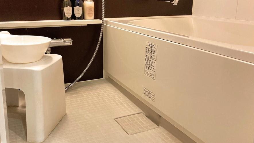 全ての客室のバスルームが洗い場付きです!
