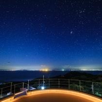 「星にねがいをてらす」 から眺める星空と駿河湾越しの夜景
