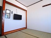 【和室6畳】ゆったりくつろげる1~3名様用のお部屋です。
