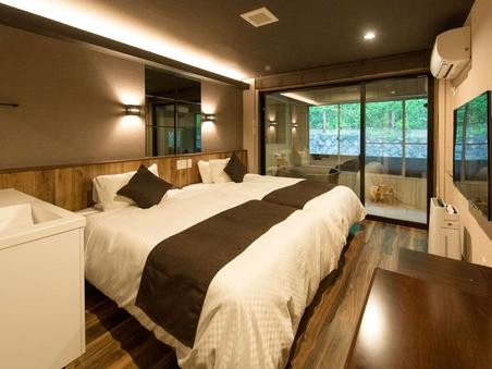 【半露天風呂付き客室】◆洋室ツインルーム◆20平米◆