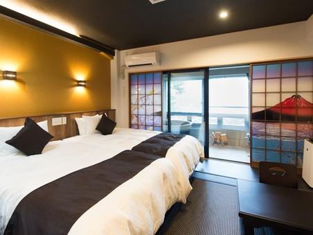 【半露天風呂付き客室】◆和モダン◆ハリウッドTW◆25平米◆
